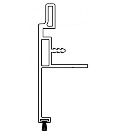 Maniglione per pannello spessore max.22-23 mm Art. 2212 con spazzolino