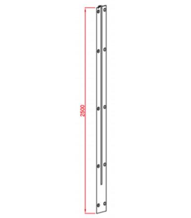 Profiles raidisseur 2500 mm pour panneau max. 20 mm Art. 221/A/2B