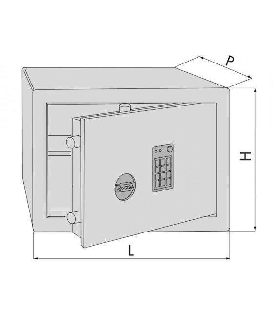 Cassaforte da mobile con combinatore elettronico DGT Vision Cisa 82750