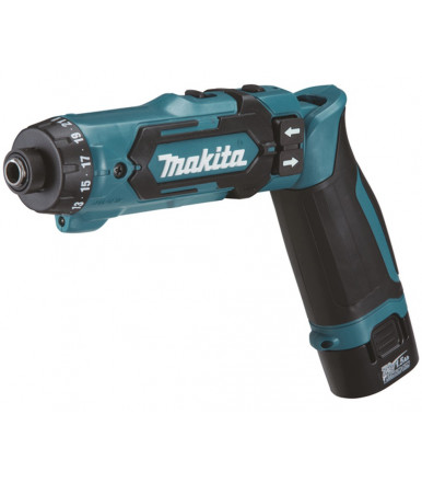 Makita DF012DSJ pencil screwdriver bivalent right gun 7,2V 1,5Ah