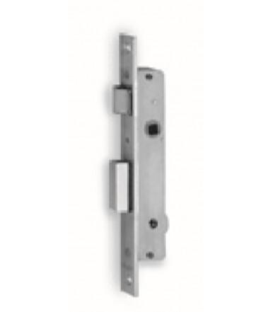 Cerradura de embutir cilindro 3 vueltes y pestillo para ventanas de aluminio