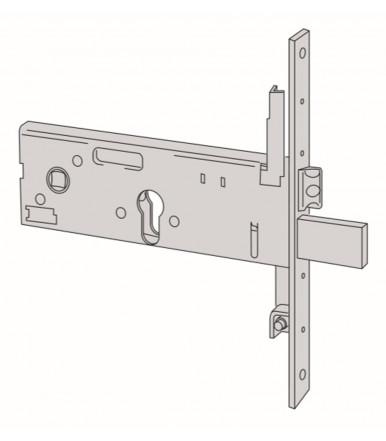 Cisa 56357.90 Cerradura horizontal de embutir de cilindro ancho 64 mm