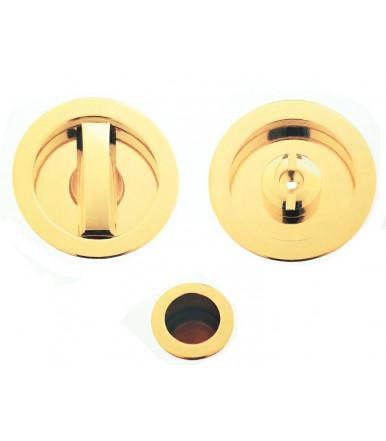 Kit nicchia tonda con pomolino basso regolabile e serratura per porta scorrevole art. 2074CS
