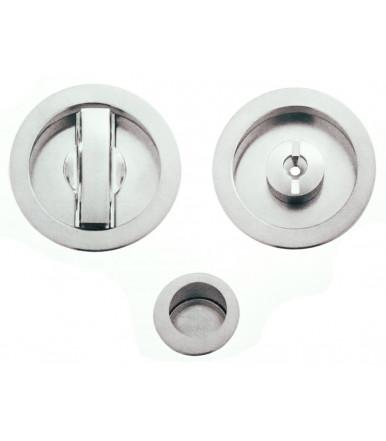 Kit nicchia tonda con pomolino basso regolabile e serratura per porta scorrevole art. K1CS