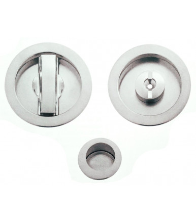 art. K1CS Round handle kit with adjustable low knob and lock for sliding door