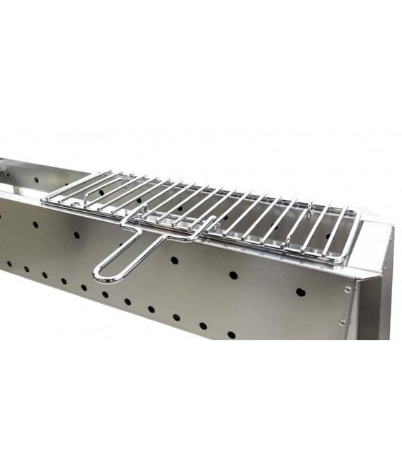Grille pour cuire les brochette et la viande mancini - Grill vertical pour kebab et brochettes ...