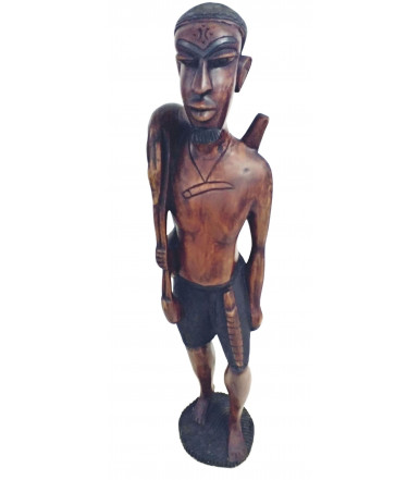 African wooden statue Tribù Wolof