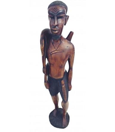 Statua africana in legno Iroko Tribù Wolof