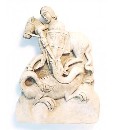 Scultura in pietra San Giorgio e il Drago