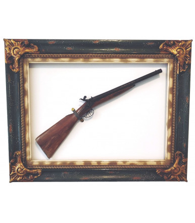 Antique double-barreled shotgun smooth pipes