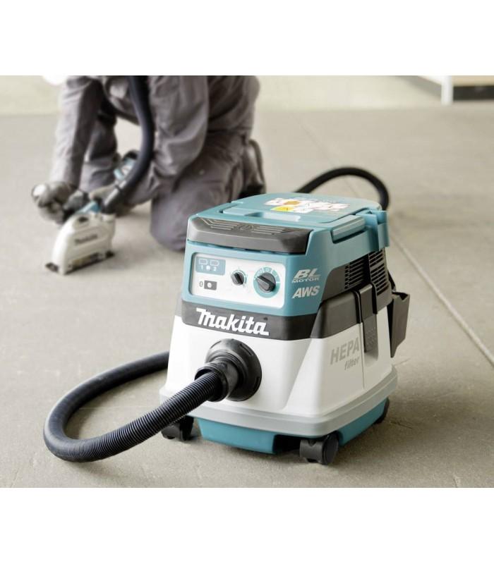 Makita DVC864LZ 18VX2 BL MOTOR Bluetooth L-Class dust extractor ...