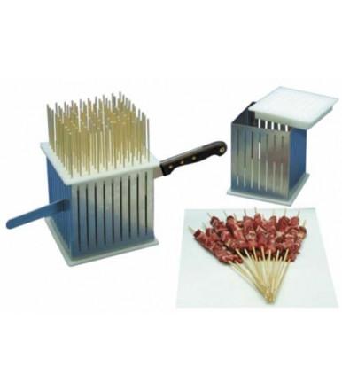 Cube de Acero inoxidable para brochetas-arrosticini Mod. K 100