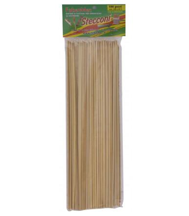 Stecco bamboo per spiedini e arrosticini Ø 3,3 mm da 250 mm 100 pz