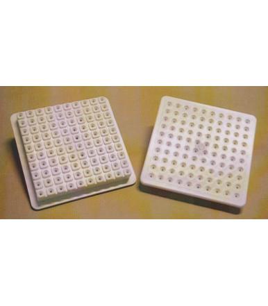 Tapa de recambio para Cubo de Acero inoxidable para brochetas-arrosticini Mod. K 100
