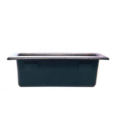 RAR - Rectangular rod-trayer in black PE