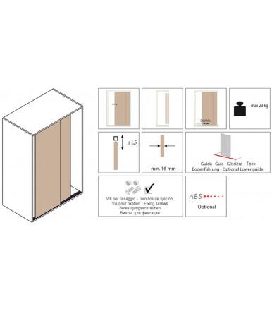 Koblenz 0310/7 Schiebetürbeschläge für Möbel 23 kg