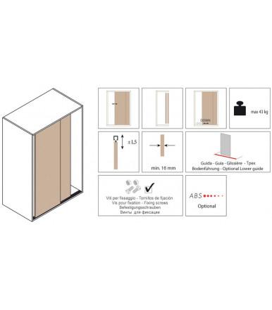 Koblenz 0310/7 Systèmes coulissants pour portes de meubles 23 kg