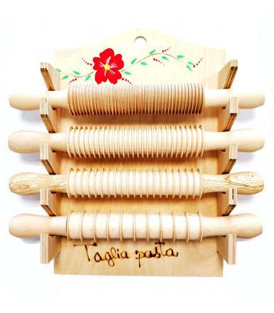 Set Nudelholz 4 stück mit Nudelholz Aufhänger Handwerk Abruzzen