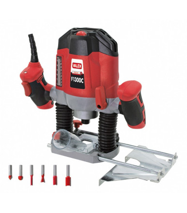 Valex plunge router with 6 router bits F1300C