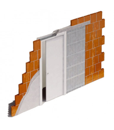 Porta Pail PIANETA 2 interna laccata pantografata con telaio EVO in legno listellare