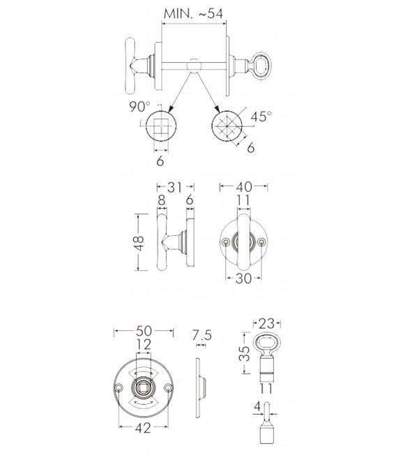 Catenaccio impugnatura 48 mm 1021-01 BAL