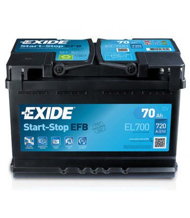 EXIDE Start-Stop EFB Batterie 12V für Pkw und Nutzfahrzeuge