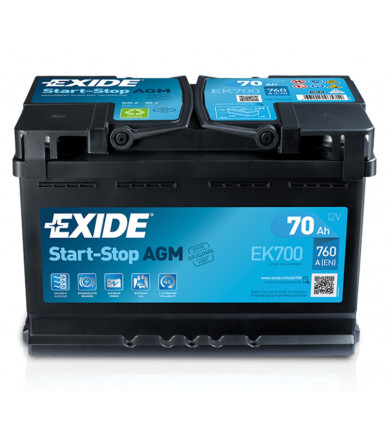 EXIDE Start-Stop AGM Battery 12V for car and commercial vehicle