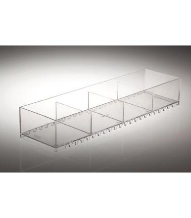 Vaschetta trasparente portaoggetti impilabile Servetto JOLLY