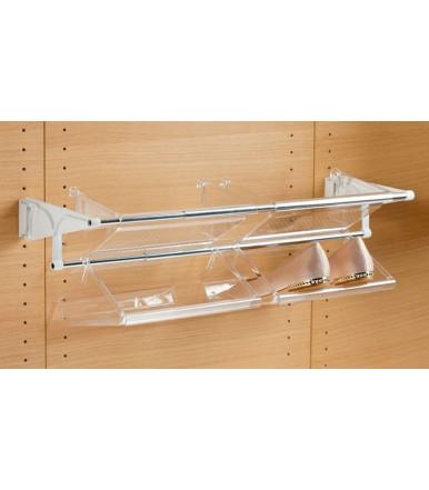 Set 3 pz. vaschetta portascarpe-portaoggetti trasparente Servetto VASCHETTA