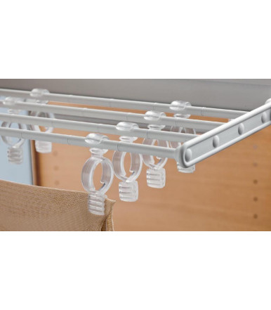 Servetto Self System pull-out folding tie rack/skirt rack/trousers rack