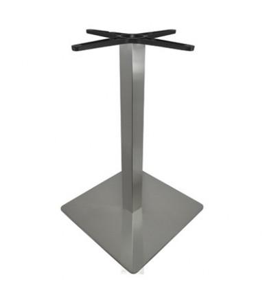 Gamba quadra inox con base per tavolo