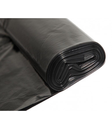Black trash bag 90x120 cm high thickness