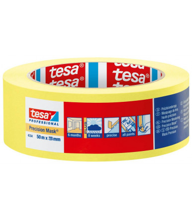 Tesa Precision Mask Sensitive Professional High grade paint tape for precise paint edges, 25 mm x 50 mt