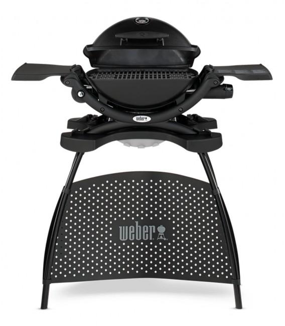 Weber gasgrill mit stand q1200 schwarz mancini mancini for Weber gasgrill q1200