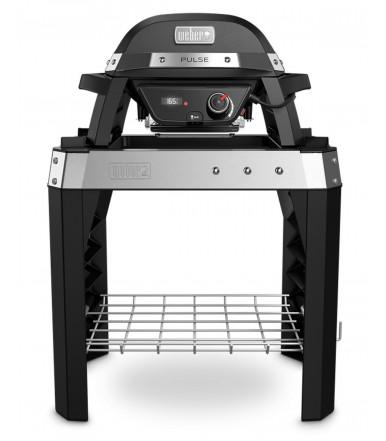 Barbecue elettrico Pulse 1000 Nero con supporto Weber