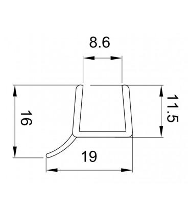 Spessore Cristallo Box Doccia.Profilo Guarnizione Deviatore Per Box Doccia Spessore Vetro 10 Mm