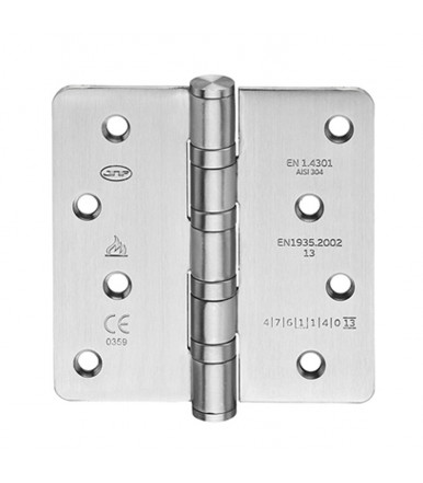Stainless steel hinge 4 bearings with round corners of 100x100 mm IN.05.021.100.R.CF JNF