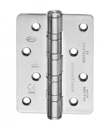 Hinge inox with round corners - fire proof art. IN.05.020.100.R.CF JNF