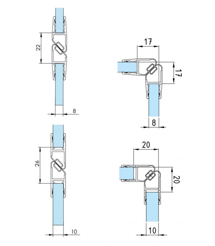 Profilo Guarnizione Magnetico Per Angolo 90 Nord Sud Per Box