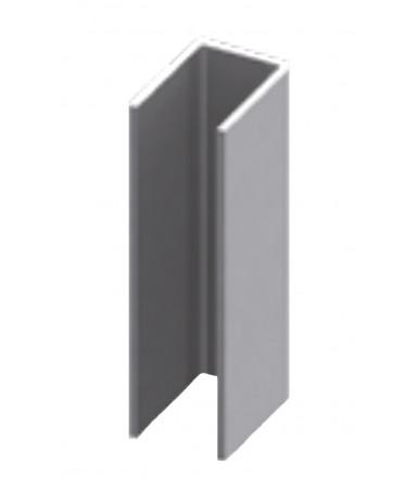 Profilo canalina ad U acciaio inox per box doccia spessore vetro 6-8-10 mm, lunghezza 2200 mm