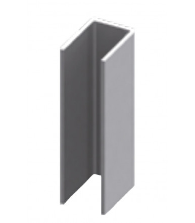 Stainless steel U-shaped profile for shower box, glass thickness 6-8-10 mm, length 2200 mm
