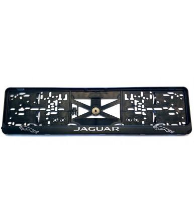 Portatarga Jaguar con logo effetto 3D