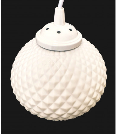 Lampadario-Sospensione regolabile in porcellana bianco