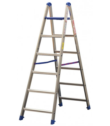 Marchetti PABLO Professional ladder with Double side steps aluminium with automatic platform base