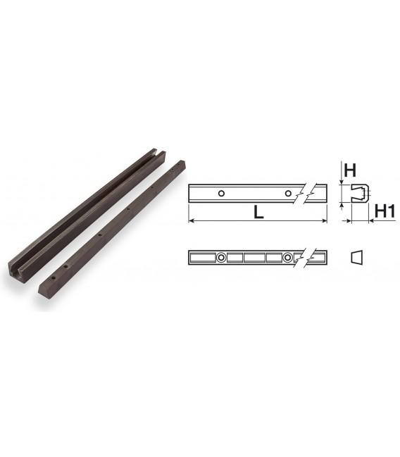 Cutaway slide cm 50xH16 mm for shelves junction