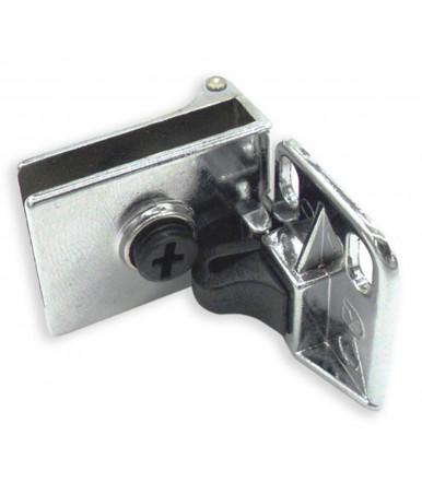 Chromed hinge for glass doors