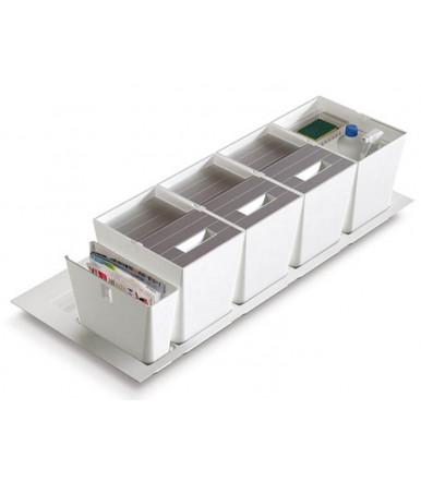 PREMIÈRE 1050 Schubladen Mülleimer 16 Lt. mit Waschmittelbehälter und Zeitschriftenständer