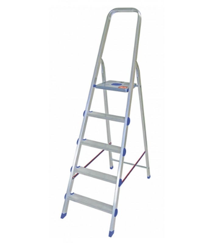 Valex aluminium ladder with platform base - Shop Mancini
