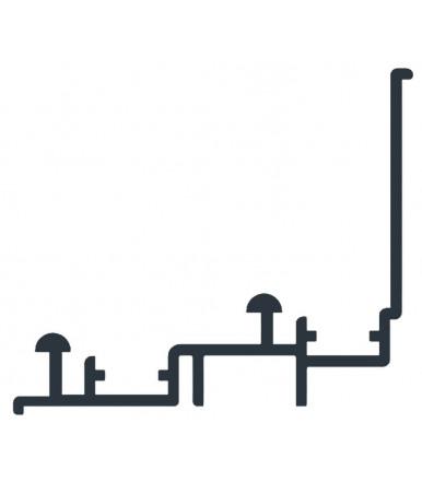 Rail supérieur 3 mt. pour armoires avec vantaux parallèles Art. 2110/A