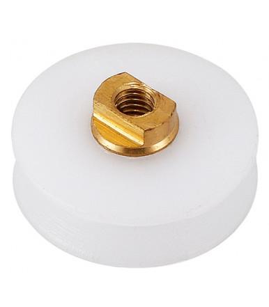 Ruota in nylon con Gola V Ø 22,5 mm